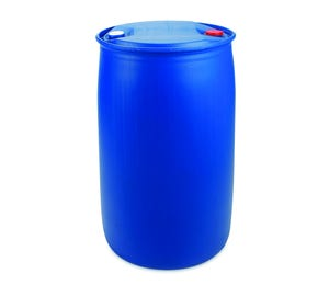 220 Litre Plastic Blue Tighthead Drum UN Approved Single L Ring