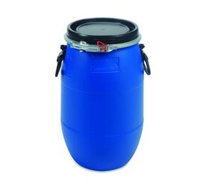 30 Litre Plastic Blue Open Top Drum UN Approved
