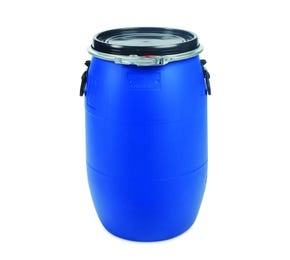60 Litre Plastic Blue Open Top Drum UN Approved