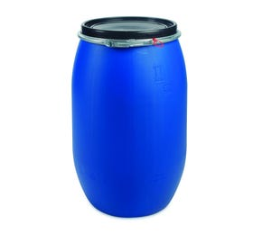 120 Litre Plastic Blue Open Top Drum UN Approved