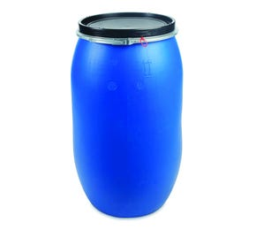 220 Litre Plastic Blue Open Top Drum UN Approved