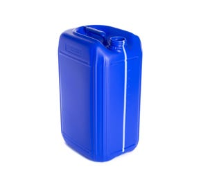 25 Litre Plastic Blue UN Approved Fluorinated Jerry Can with 60mm Neck
