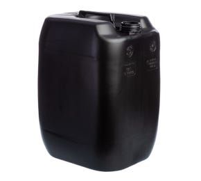 30 Litre Plastic Black UN Approved Stackable Jerry Can with 60mm Neck 1.4kg