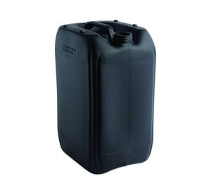 20L Plastic Black UN Approved Stackable Jerry Can with 61mm Neck 850g