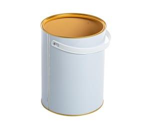 5 Litre White Lever Lid Tin Lacquered Interior