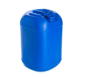 25 Litre Plastic Blue UN Approved Square Round Jerry Can with 61mm Neck 950g