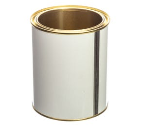 750 ML White Lacquered Lever Lid Tin