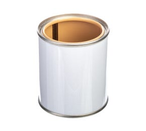 125 ML White Lever Lid Tin and Lid Lacquered Interior