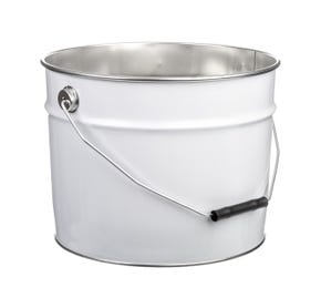 15 Litre Tinplate White Pail Plain Interior UN Approved