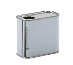500 ML White Rectangular UN Approved Tin Plain Interior with 32mm Flexspout