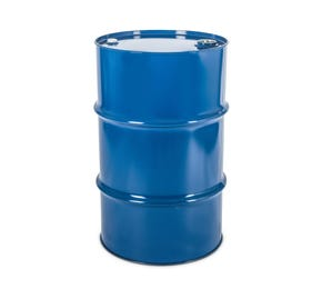 115 Litre Steel Blue UN Approved Tighthead Drum Lacquered Interior with Bung Closure