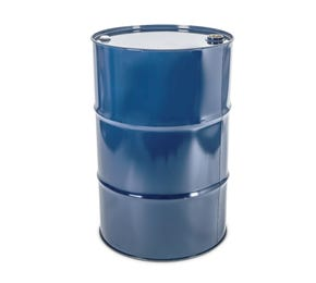 210 Litre Steel Blue UN Approved Tighthead Drum Plain Interior